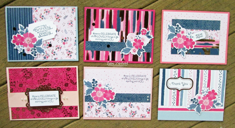 Everything is rosy card kit stampin up Lyssa quilts tutorial cardmaking