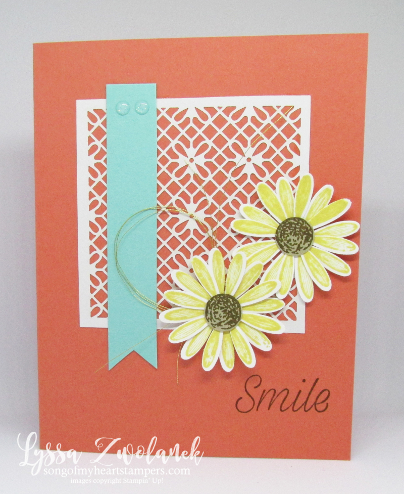 Daisy Lane medium daisies punch delight Stampin Up art rubber stamp DIY crafting