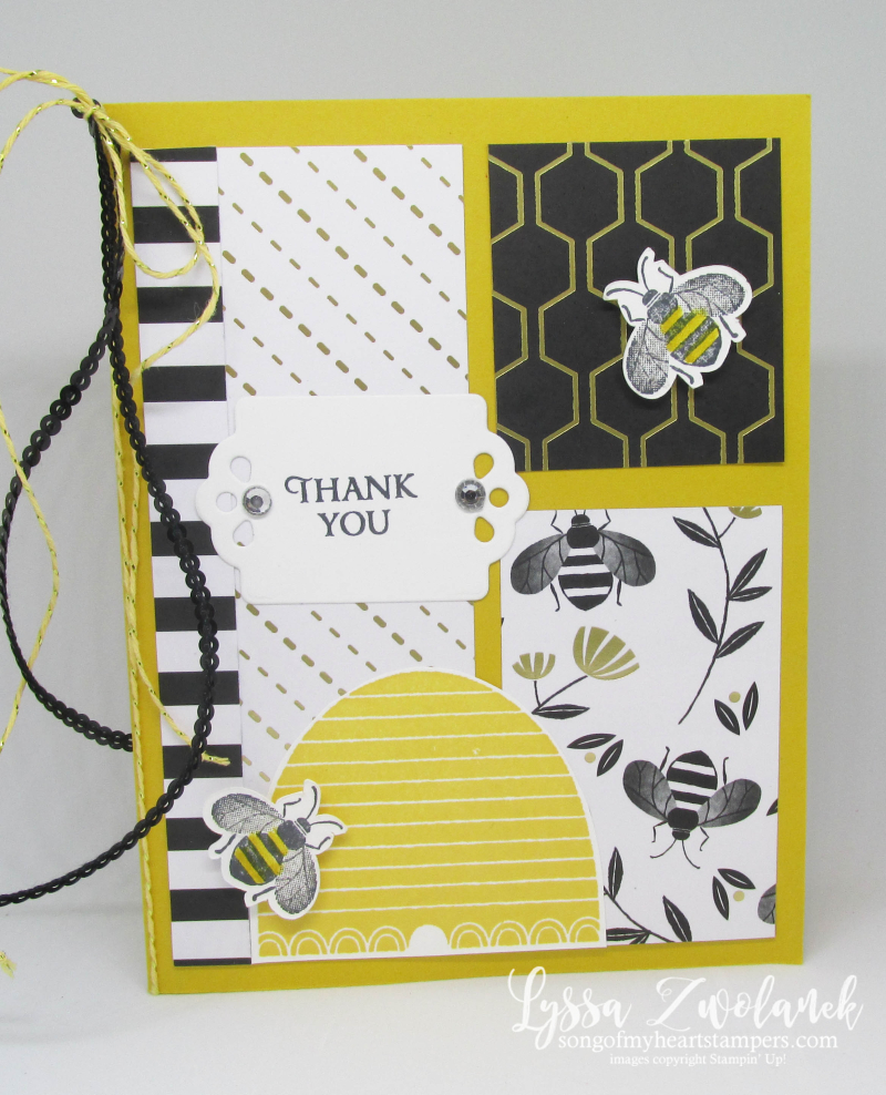 Honeybee Hive Golden Honey papers cards bee busy Stampin Up Lyssa