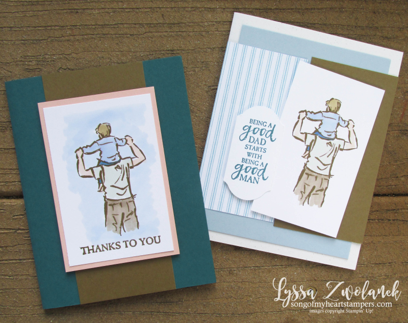 Good Man Father Dad fathers day birthday masculine mens Stampin Up rubber stamp guys card