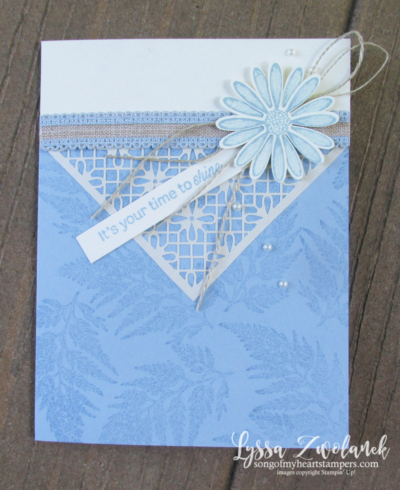 Daisy lane punch bundle Stampin up rubber stamps lace daisies class lasercut cardmaking DIY