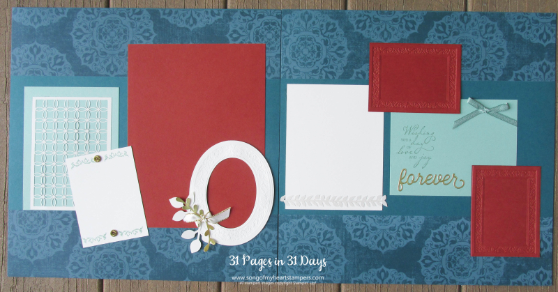 31 pages days scrapbooking 12x12 layouts SU only page ideas scrapbook album 18