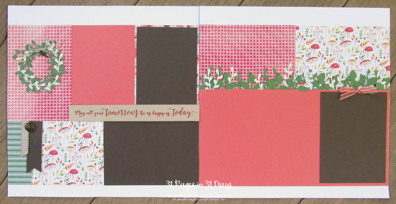 31 pages days scrapbooking 12x12seasonal wreath sprig punch layouts scrapbook album 1