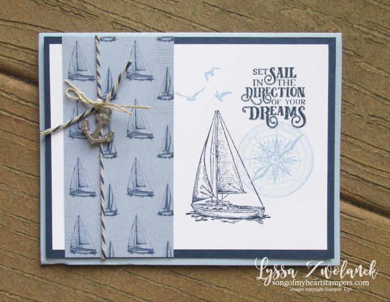Smooth Sailing Saiy Away Home Stampin Up ocean boat ship nautical stamp set
