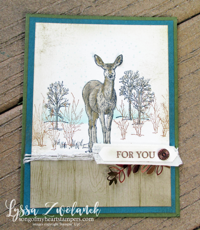 Natures beauty Stampin Up rubber stamps DIY cardmaking fall winter Christmas deer hunter woods  fox
