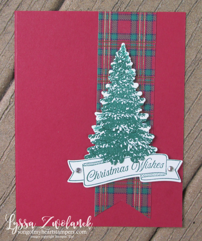 Plai Christmas tree fir pines holiday Stampin Up cards make your own DIY