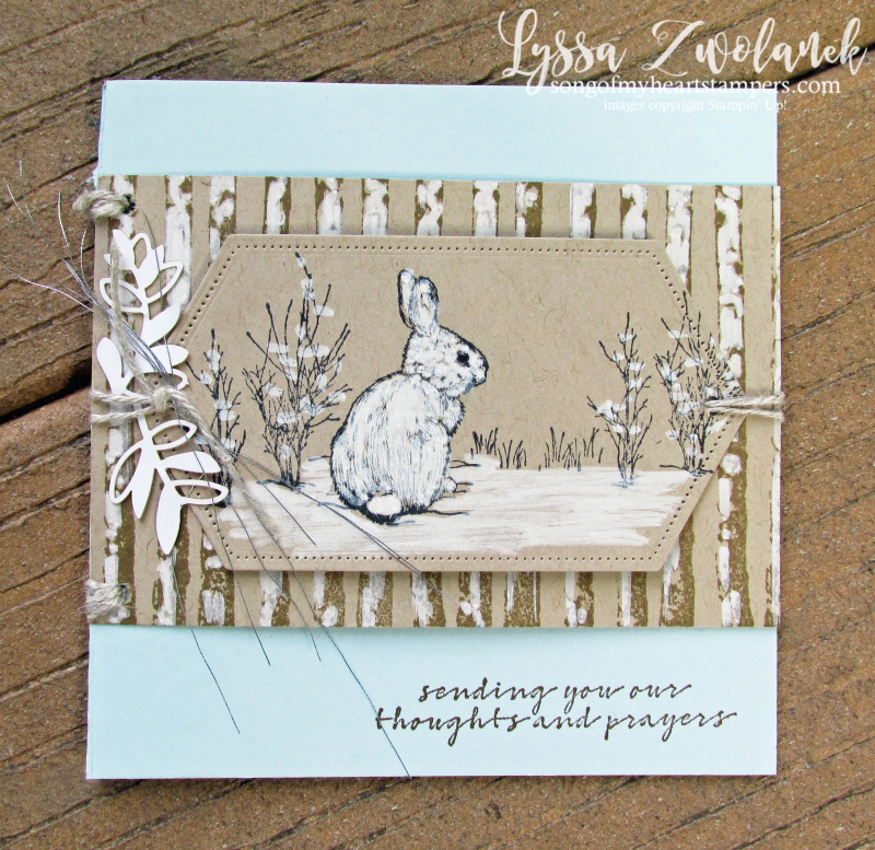 Natures beauty Stampin Up rubber stamps DIY cardmaking fall winter Christmas deer snow hare fox