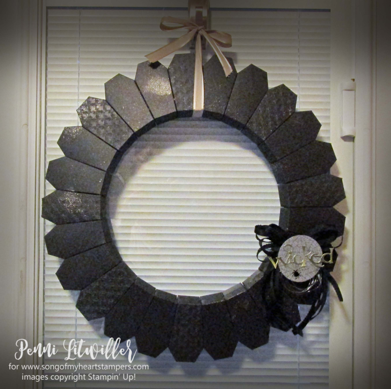 Halloween blog series rubber stamping DIY home decor coffin wreath papercrafts Stampin Up Monster Bash Penni Lyssa october