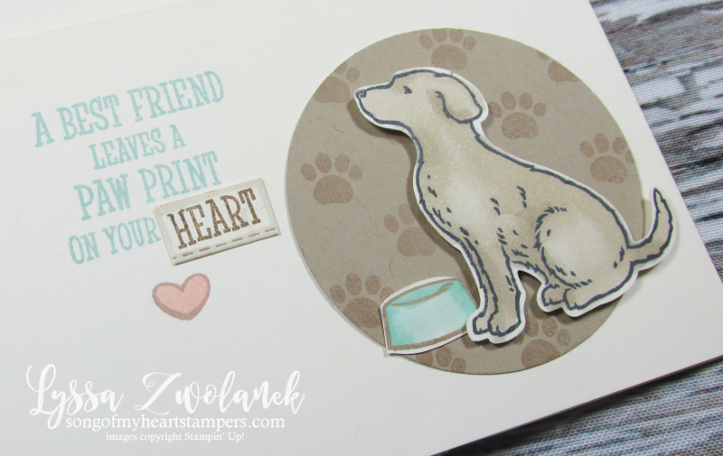 Happy Tails stampin up stamps dog collar bone pet sympathy dog house punch