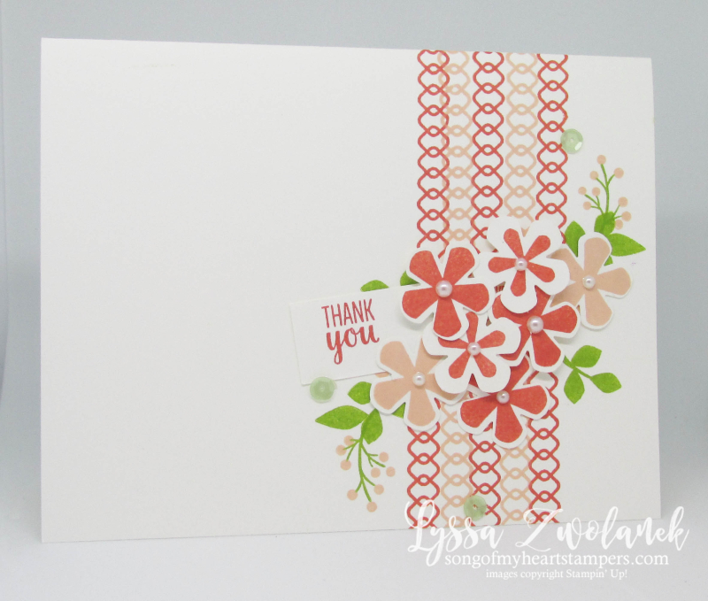 Stampin Up Thoughtful Blooms SAB 2020 free stamp set flowers punch blossoms Lyssa easy