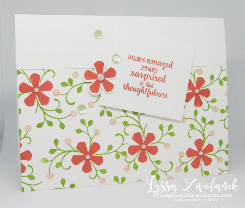 Stampin Up Thoughtful Blooms SAB 2020 free stamp set flowers punch blossoms OSW easy