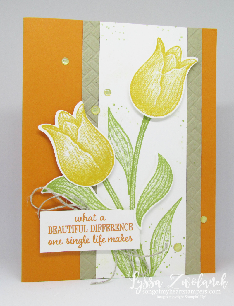 Timeless Tulips stamp set punch Stampin Up sympathy card ideas