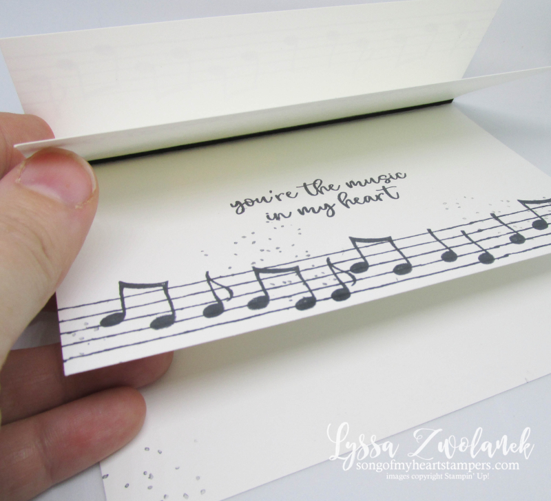 Flappy Card fancy fold Music Heart Stampin Up musical notes