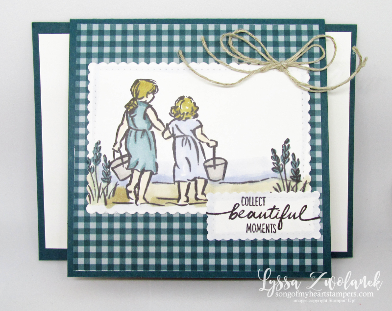 Uneven doors card Stampin Up Cheat Sheets Lyssa Z fancy folds beautiful moments seashore Blends