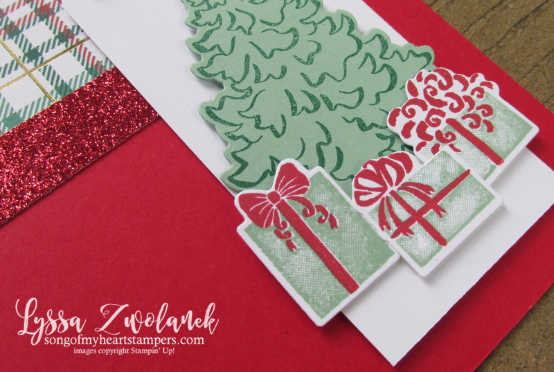 Most wonderful time year Stampin Up Christmas bundle stamp cards DIY tree presents dies
