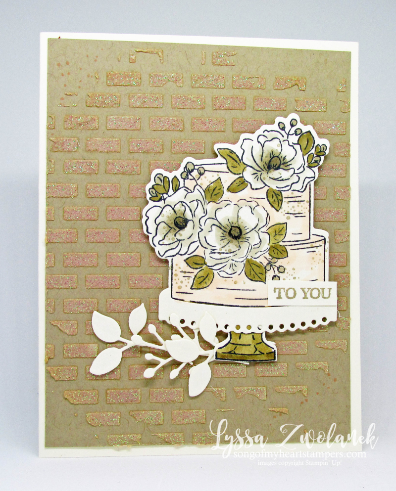 Happy Birthday You wedding cake anniversary engagement rustic magnolia Stampin Up