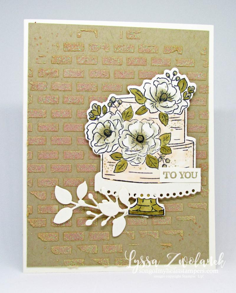 Happy Birthday You wedding cake anniversary engagement rustic magnolia Stampin Up