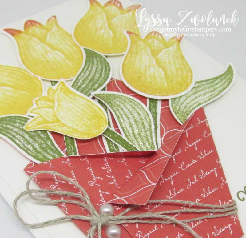 Timeless Tulips punch bundle stampin up tulip bouqet mothers day DIY card tutorial
