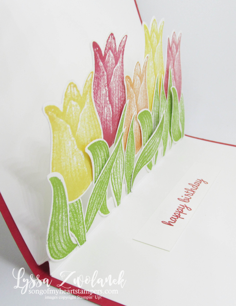 Timeless Tulips punch bundle stampin up tulip pop up fancy fold DIY card tutorial