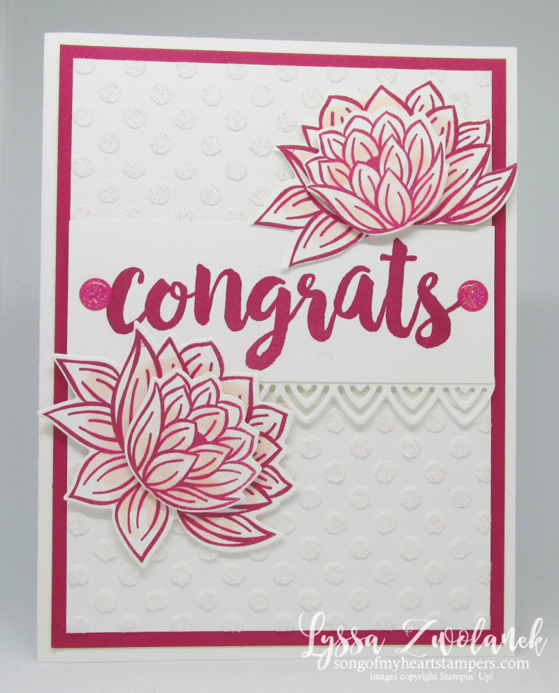 Lovely Lily Pad Stampin Up lake lotus waterlilies rubber stamps cardmakin gembossing techniques
