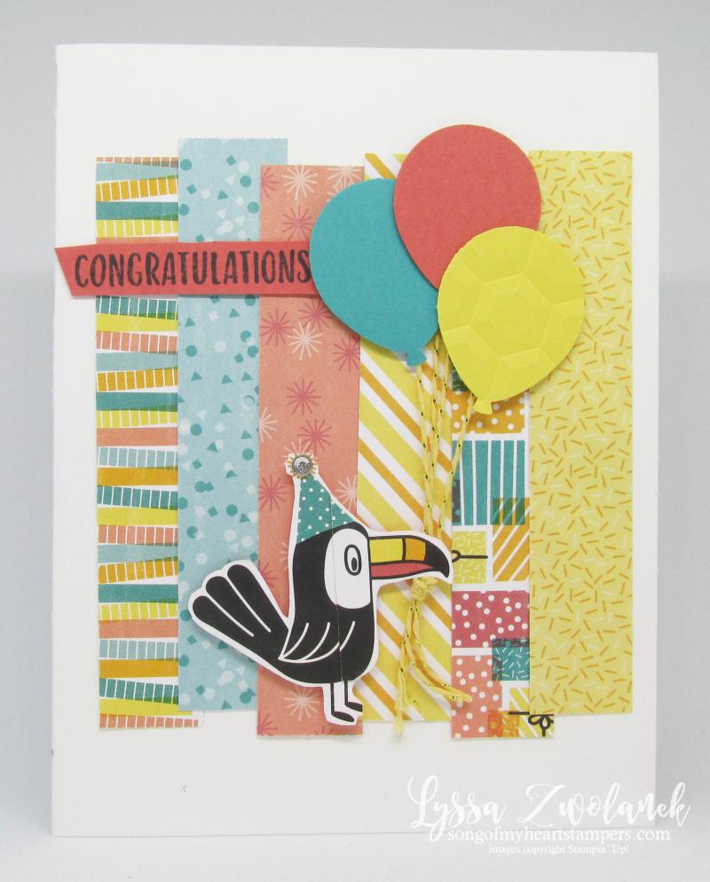 Sending You Thoughts SAB Stampin Up free printable bonanza balloons koala birthday kids cards