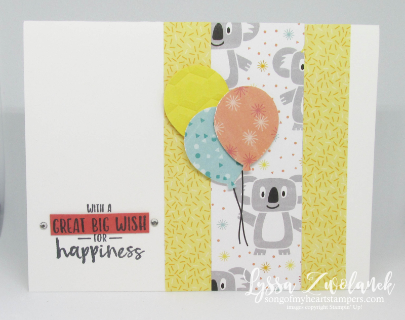 Sending You Thoughts SAB Stampin Up free printable idea sheets koala birthday kids cards