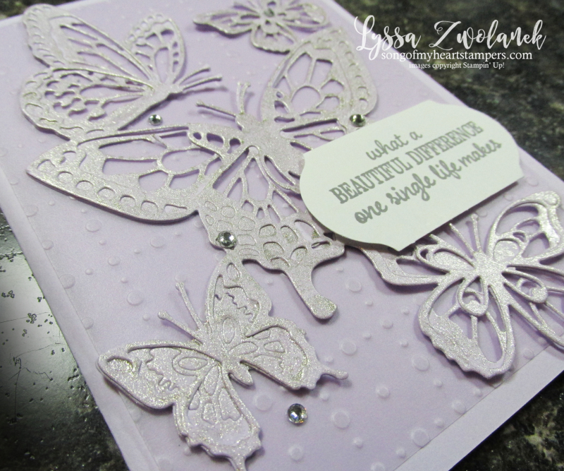 Butterfly beauty Abounds Stampin Up dies rubber stamps cardmaking DIY projects