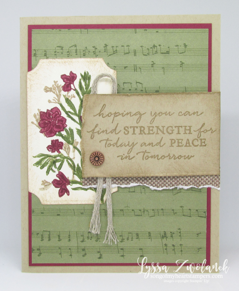 Pressed Petals Stampin Up path vintage sympathy card DIY stamping