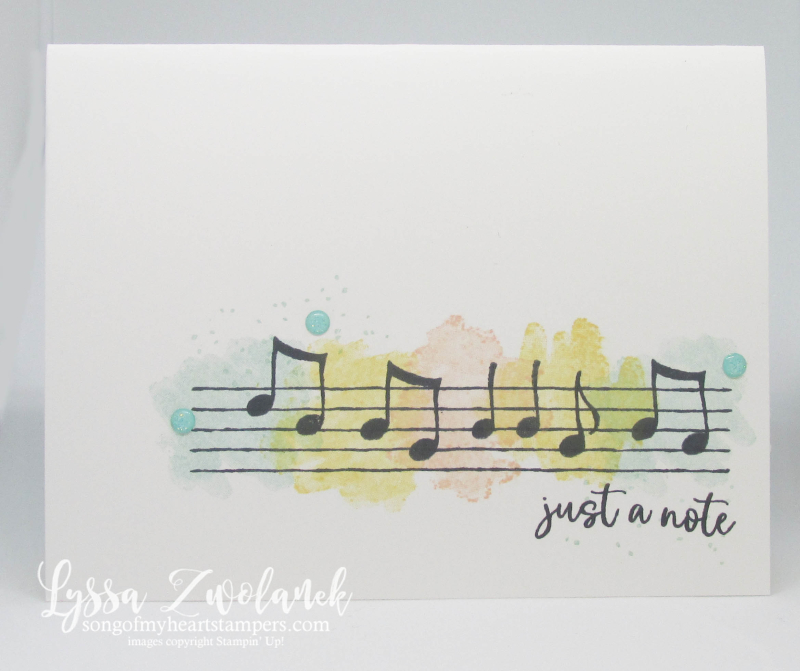 Music from the heart Stampin Up Lyssa musical notes cardmaking  rubber stamps