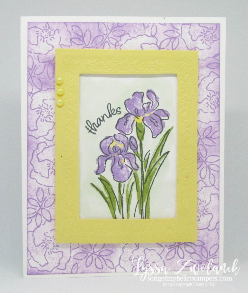 Inspiring Iris Stampin Up purple garden spring heirloom mothers day sympathy