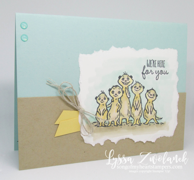 Meerkat gangs here Stampin Up saleabration meer rubber stamps Lyssa all meer cardmaking DIY