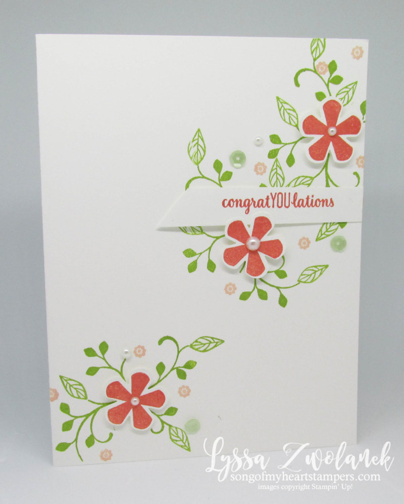 Stampin Up Thoughtful Blooms SAB 2020 free stamp set flowers punch blossoms one layer