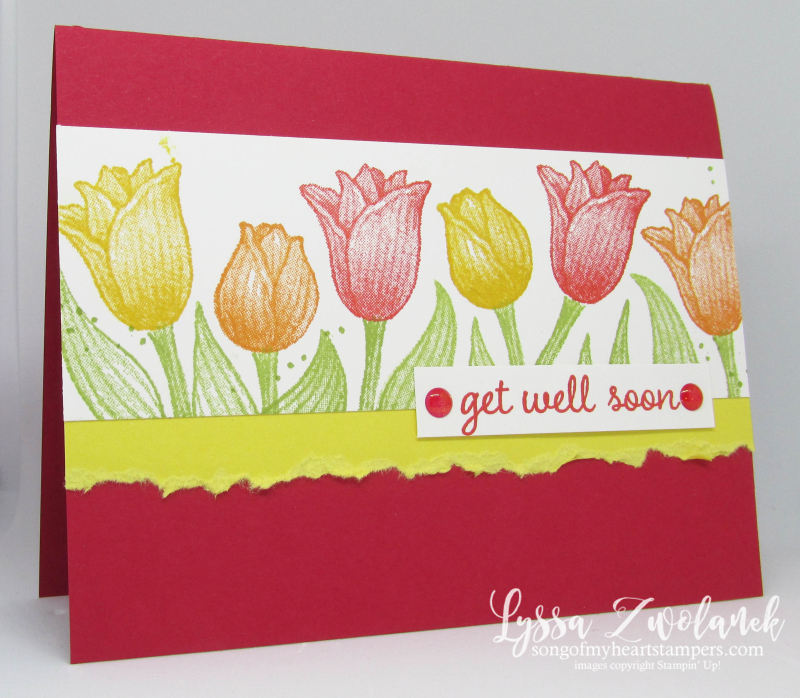 Timeless Tulips stamp set punch Stampin Up tulip garden get well
