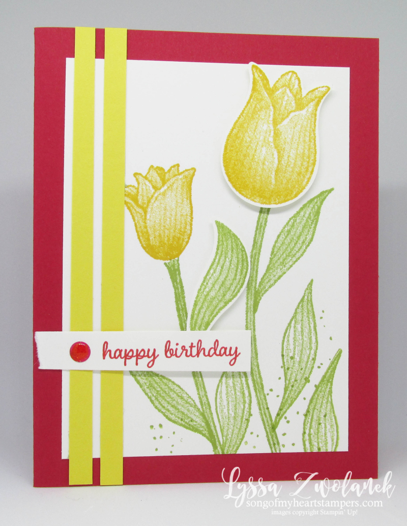 Timeless Tulips stamp set punch Stampin Up tulip garden flowers
