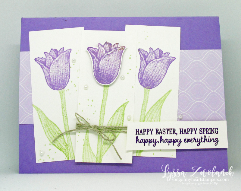 Timeless Tulips punch bundle stampin up tulip bouqet purple lovers DIY card tutorial