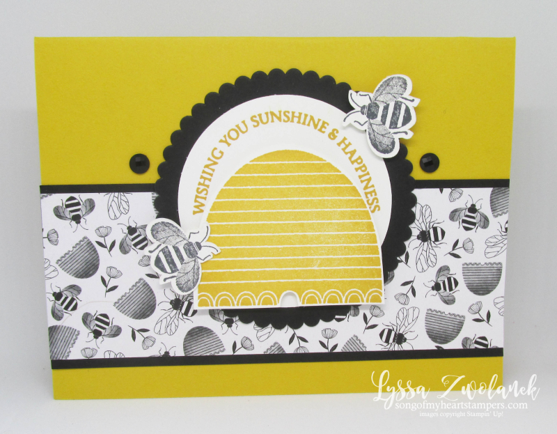 Honeybee Hive Golden Honey papers cards bee layout ideas Stampin Up Lyssa