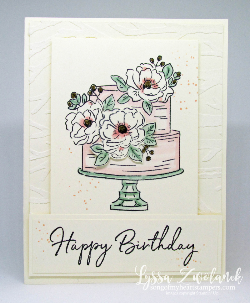 Happy Birthday You wedding cake anniversary engagement party magnolia Stampin Up