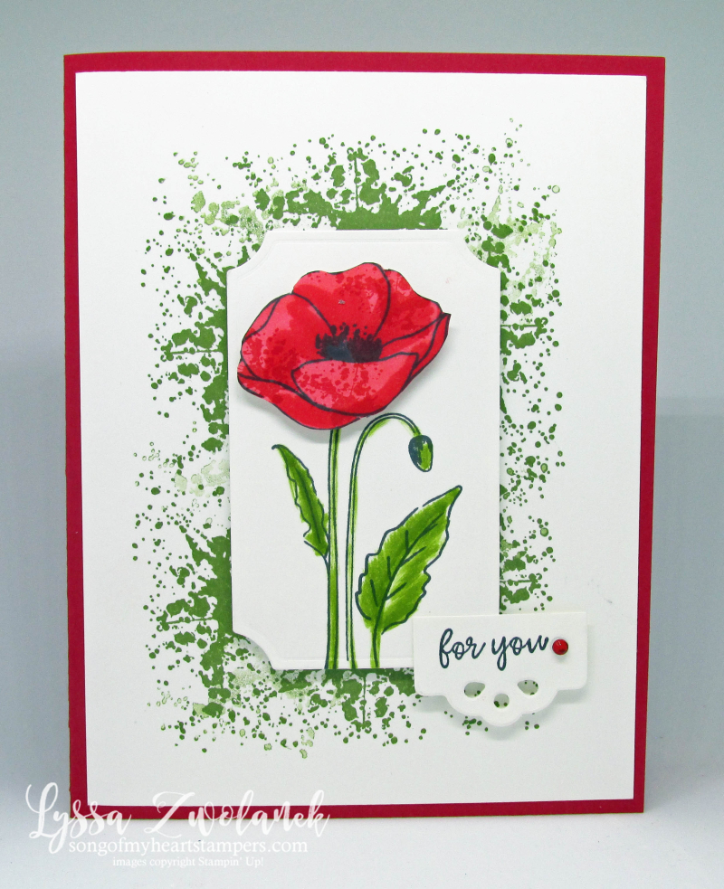 Painted Poppies bundle peaceful Stampin' Up free ideas DIY cardmaking rubber stamps
