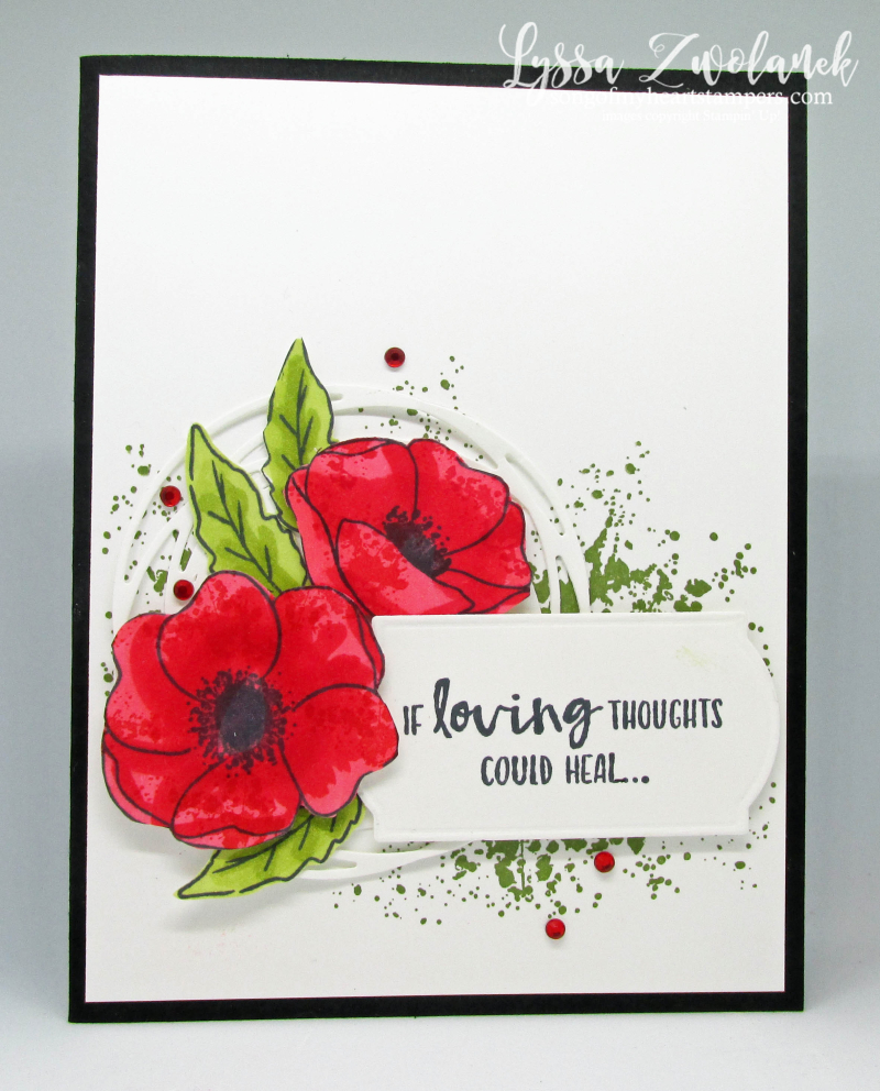 Painted Poppies bundle peaceful Stampin' Up free DIY ideas veteran cardmaking rubber stamps