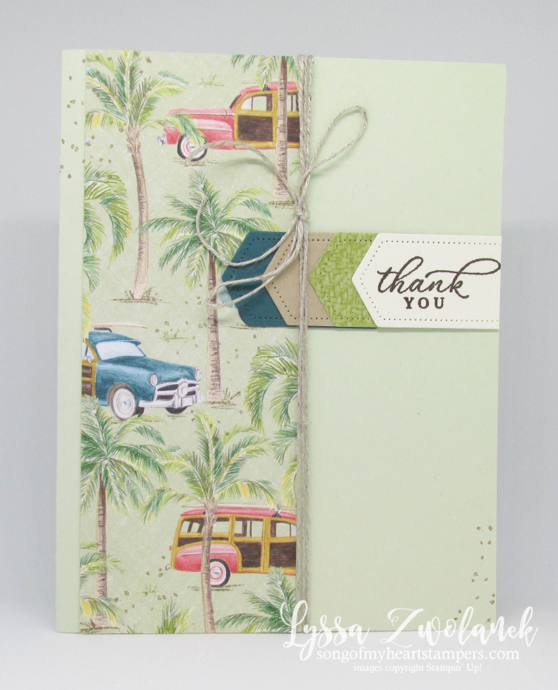 Timeless tropical oasis Stampin Up palms vintage surf woody hawaii aloha pineapple rubber stamps