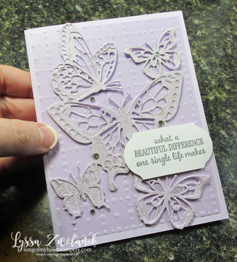 Butterfly beauty Abounds Stampin Up dies rubber stamps cardmaking projects