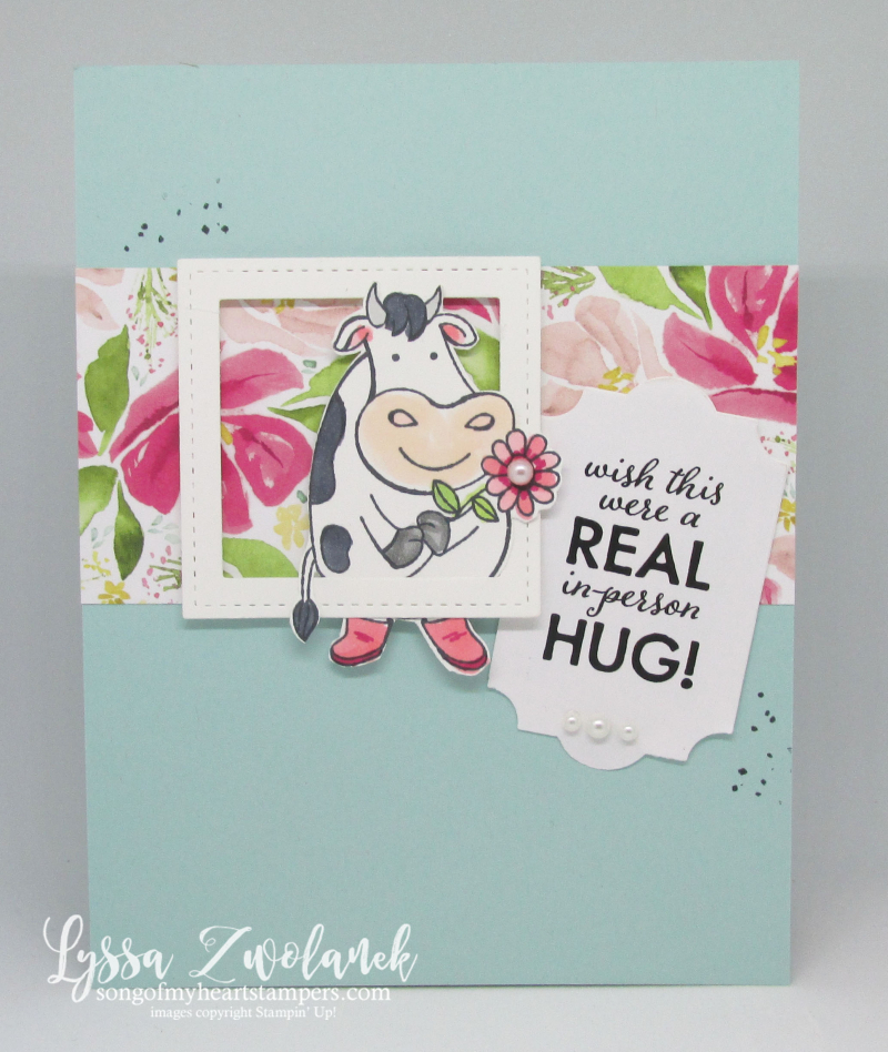 Quarantine funnies Stampin Up giveback wish real hug COVID birthday
