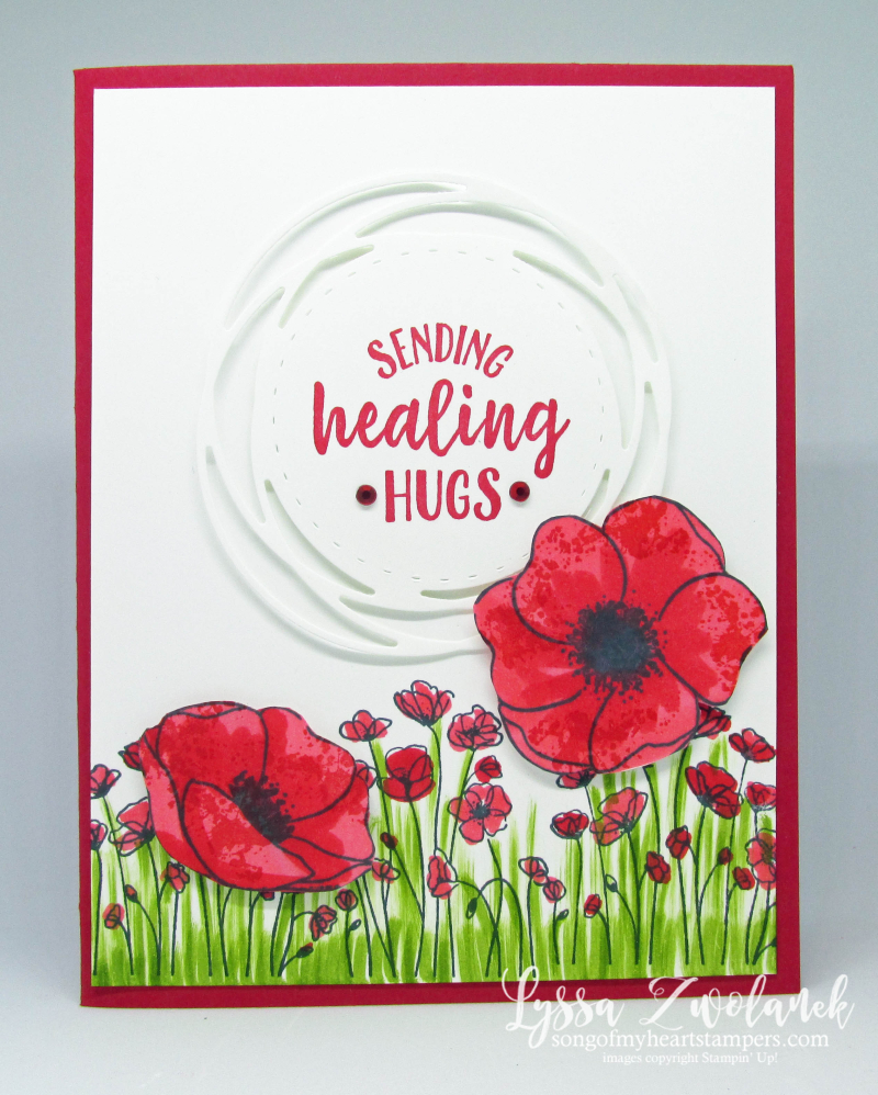 Painted Poppies bundle peaceful Stampin' Up free DIY ideas cardmaking rubber stamps