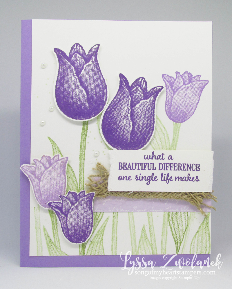 Timeless Tulips punch bundle stampin up tulip garden sympathy condolences DIY card tutorial