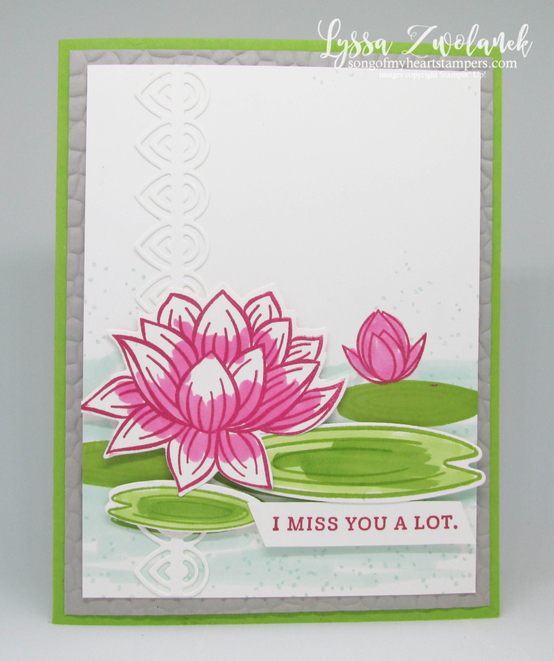 Lovely Lily Pad Stampin Up lake lotus waterlilies rubber stamps cardmaking techniques