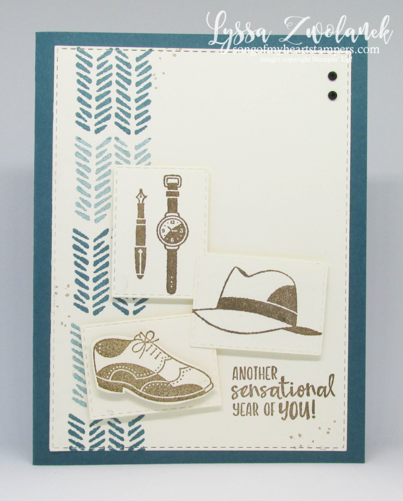 Well Dressed masculine rubber stamps Stampin Up guy cards mens shirt tie shoes