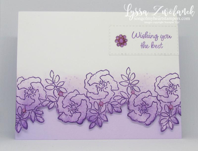 Inspiring Iris Stampin Up purple garden spring easter stamps wedding