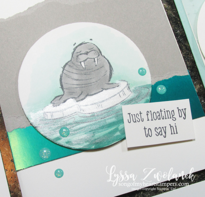 Walrus be friends funny rubber stamps Stampin Up polar ice fish sea