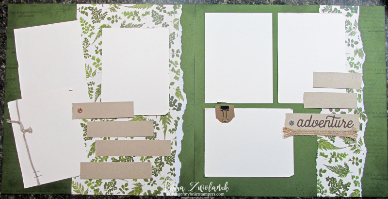 Pressed Petals Layout Library suite sampler Stampin Up scrapbooking 12x12 papers layouts adventure