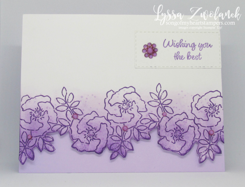 Inspiring Iris Stampin Up purple garden spring easter stamps wedding